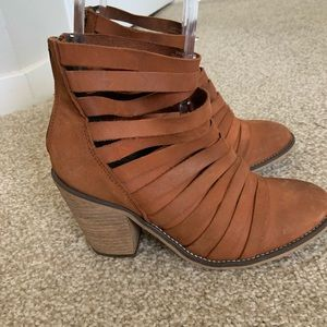 Free people Hybrid Strappy leather ankle boots